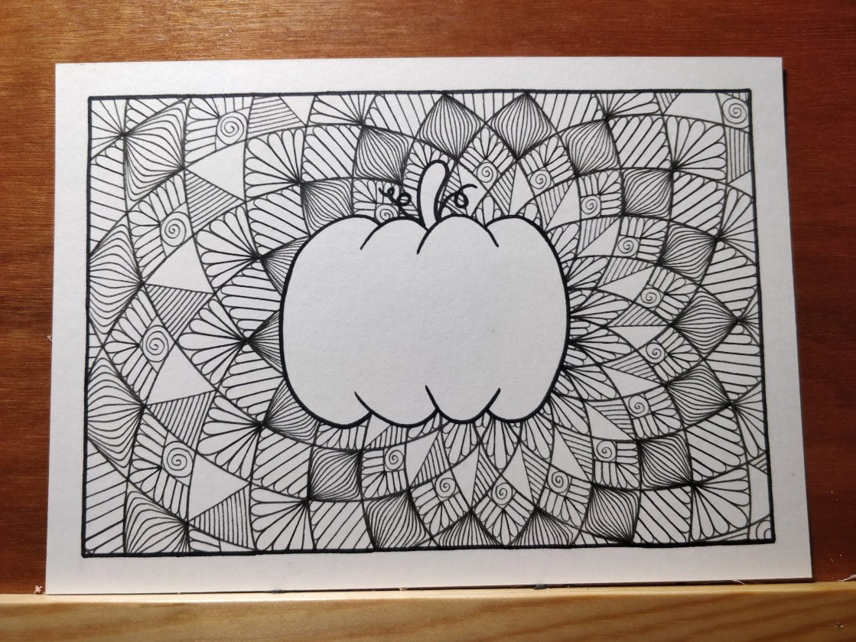 Étape 4 : dessin du mandala terminé